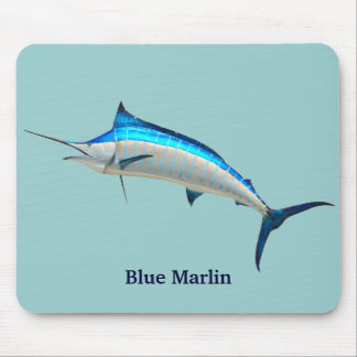 Blue Marlin Mouse Pad