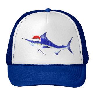 Blue Marlin Santa Claus Cap
