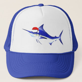 Blue Marlin Santa Claus Trucker Hat