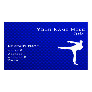 Blue Martial Arts Business Card Templates