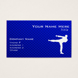 Blue Martial Arts Business Card