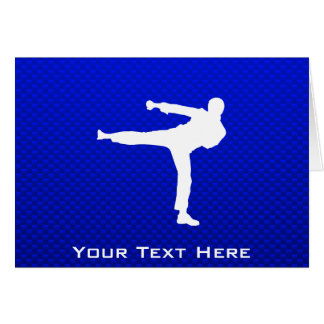 Blue Martial Arts Card