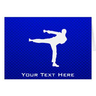 Blue Martial Arts Greeting Card