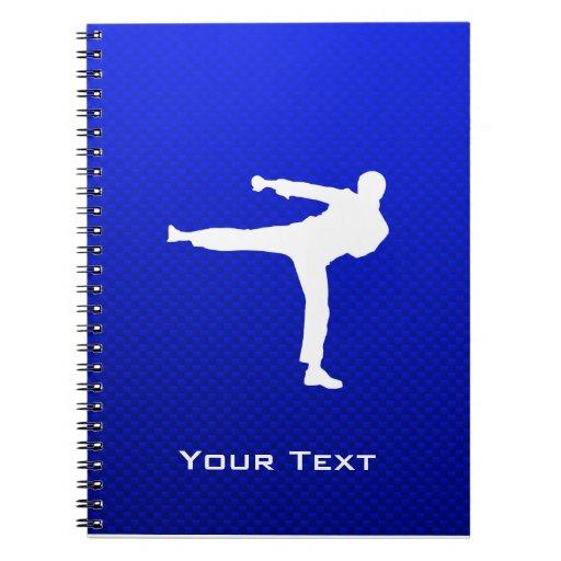 Blue Martial Arts Spiral Notebooks