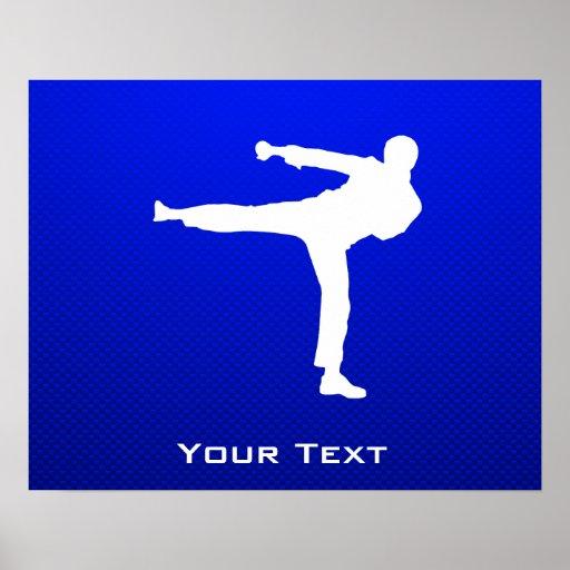 Blue Martial Arts Print