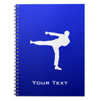 Blue Martial Arts Spiral Notebook
