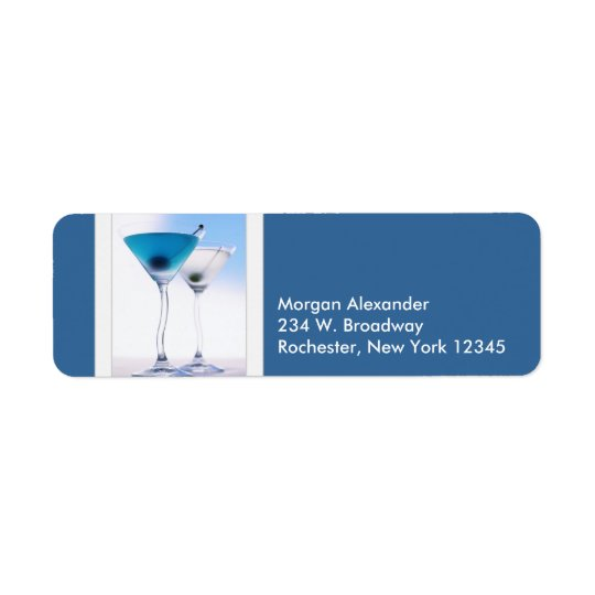 Blue Martini Address Labels
