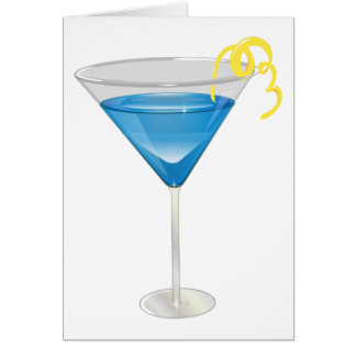 Blue Martini Card