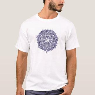 Blue masculine shirt mandala