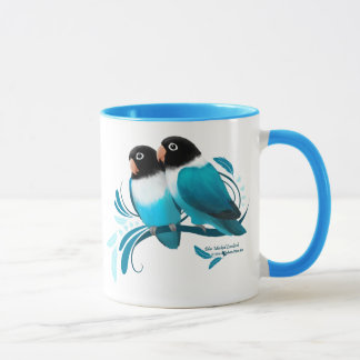 Blue Masked Lovebirds Mug