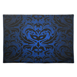 Blue Masquerade Damask Stylish Placemat