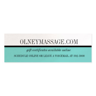 blue massage and spa contact card pack of skinny business cards