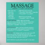 BLUE massage service menu list Poster