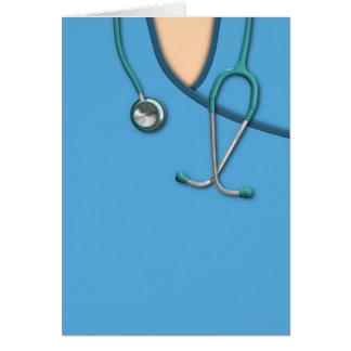 Blue Medical Scrubs Card