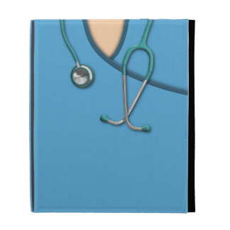 Blue Medical Scrubs iPad Folio Case