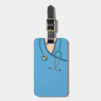 Blue Medical Scrubs Luggage Tag
