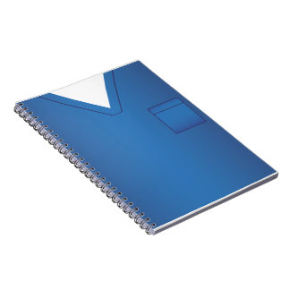 Blue Medical Scrubs Uniform Notebook