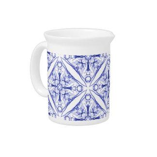 Blue Medieval Design Pitcher