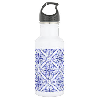 Blue Medieval Pattern 532 Ml Water Bottle