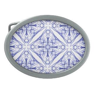 Blue Medieval Pattern Belt Buckles