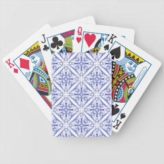 Blue Medieval Pattern Bicycle Playing Cards