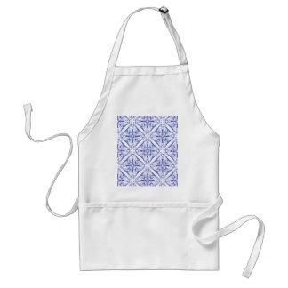 Blue Medieval Pattern Standard Apron