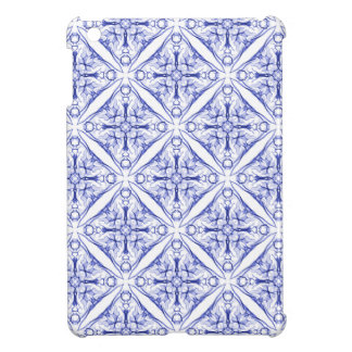 Blue Medieval Patterned iPad Mini Cover