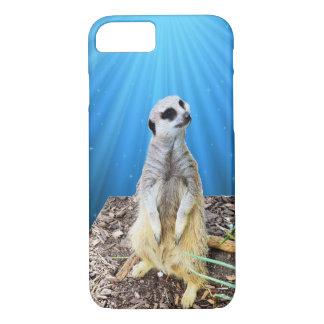 Blue Meerkat Night,_ iPhone 8/7 Case