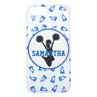 Blue Megaphones and Cheerleader Personalized iPhone 7 Case