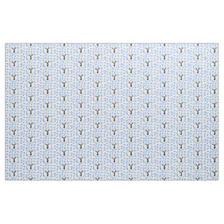 Blue Megaphones Cheerleader Design Fabric