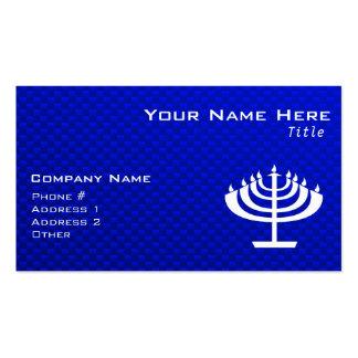 Blue Menorah Business Card Template
