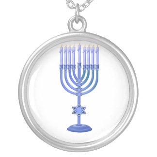 Blue Menorah Jewelry