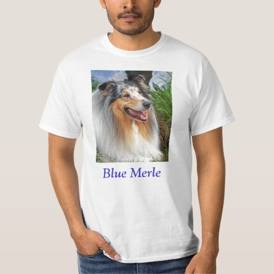 Blue merle Rough Collie dog unisex mens womens