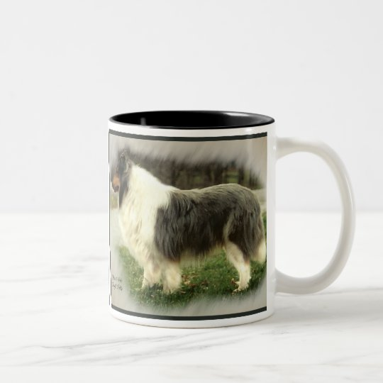 Blue Merle Rough Collie Gifts Two-Tone Coffee Mug