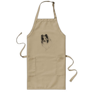 Blue Merle Rough Collie grooming apron