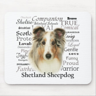 Blue Merle Sheltie Mouse Pad