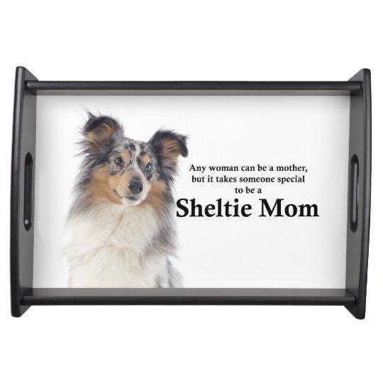 Blue Merle Sheltie Mum Serving Tray