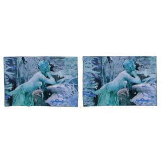 Blue Mermaid Fantasy Pair Pillow Cases