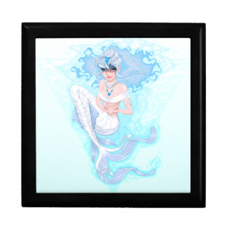 Blue Mermaid Keepsake Box