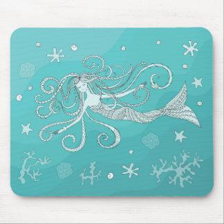 blue mermaid mouse mat