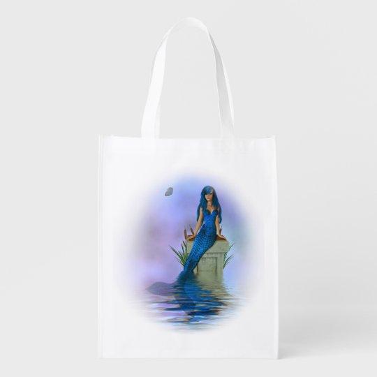 Blue Mermaid Reusable Grocery Bag
