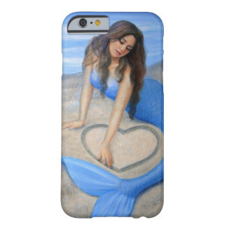 Blue Mermaid 's Heart Fantasy Art iPhone 6 case Barely There iPhone 6 Case