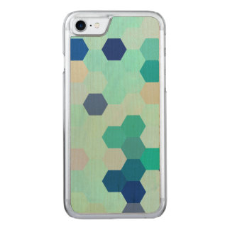 Blue Mermaid Scales Colorful Octagon Multicolored Carved iPhone 8/7 Case