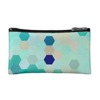 Blue Mermaid Scales Colorful Octagon Multicolored Cosmetics Bags