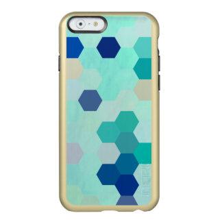 Blue Mermaid Scales Colorful Octagon Multicolored Incipio Feather® Shine iPhone 6 Case