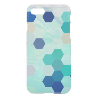 Blue Mermaid Scales Colorful Octagon Multicolored iPhone 7 Case