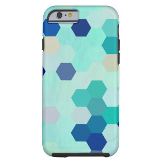 Blue Mermaid Scales Colorful Octagon Multicolored Tough iPhone 6 Case