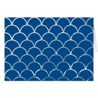 blue mermaid scales horizontal card