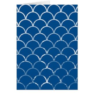 blue mermaid scales vertical card
