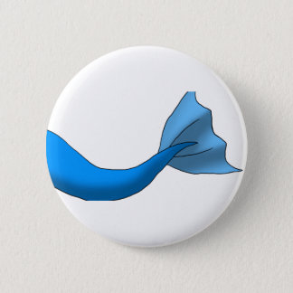 Blue Mermaid Tail 6 Cm Round Badge